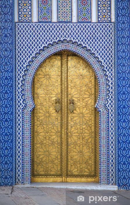 Nálepka Pixerstick Královský palác ve Fezu v Maroku - Afrika