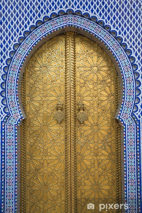 Zelfklevend Fotobehang Koninklijk Paleis in Fes, Marokko - Thema's