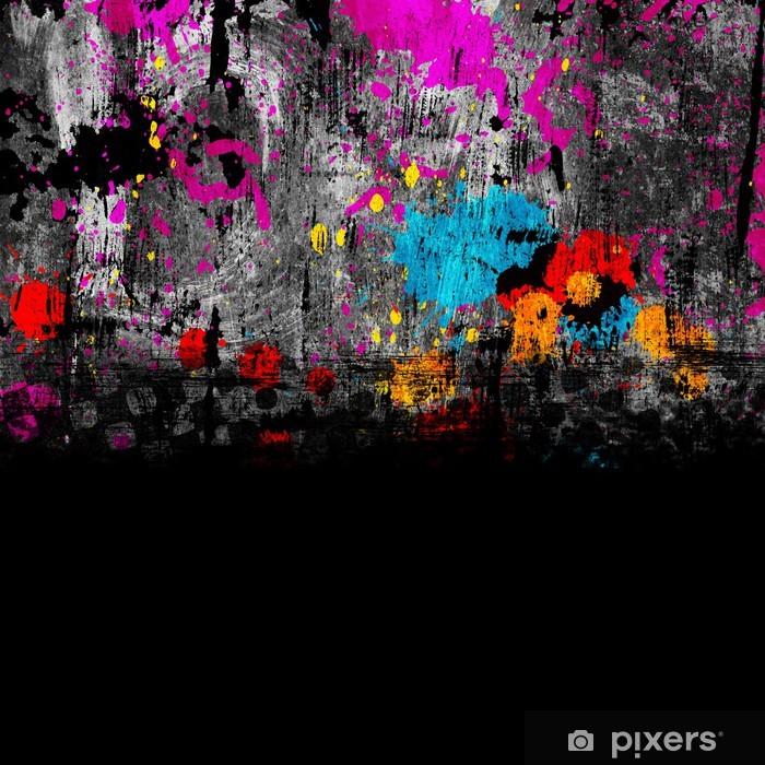 4501e0d8 Fototapet av vinyl Fargerik grunge bakgrunn med flekker av maling -  Bakgrunner