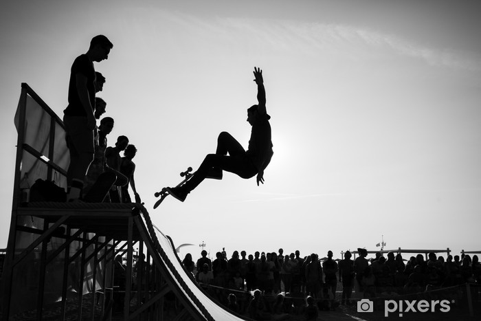 Naklejka Pixerstick Skok - Skateboarding