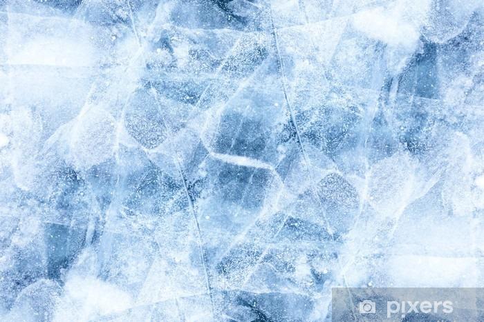 Papier peint vinyle Texture de la glace Baikal - Environnement