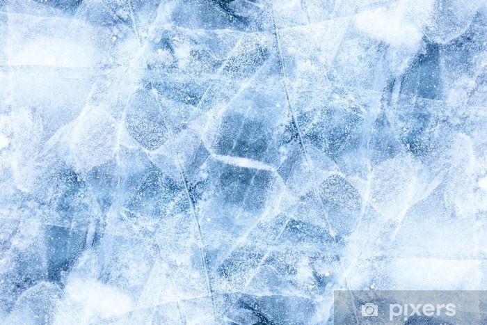 Baikal ice texture Vinyl Wall Mural - The Environment