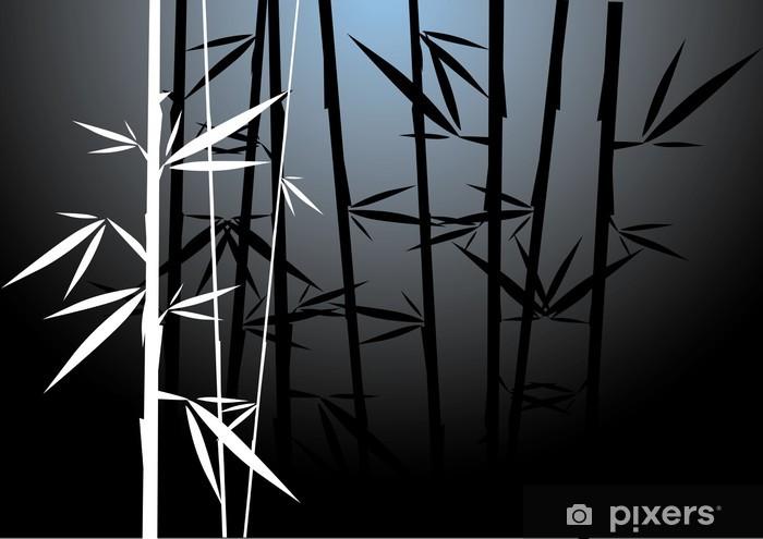 Papier peint vinyle Blanc Vector Bamboo - Thèmes