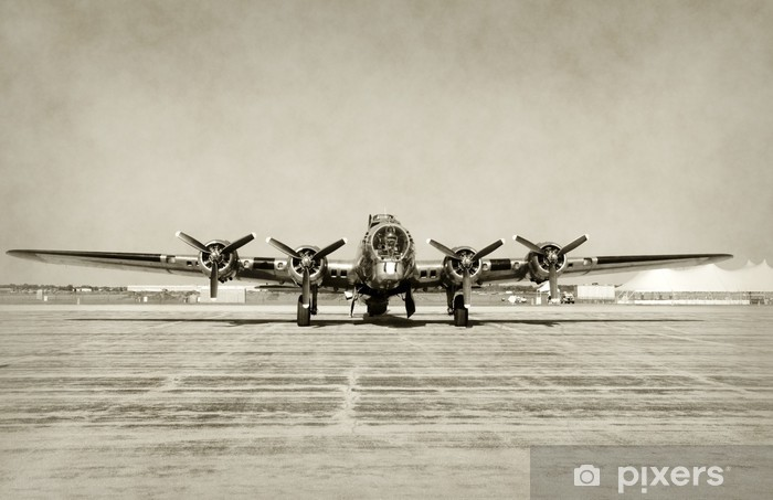 Naklejka Pixerstick Frontalny widok na stary bombowiec - Style
