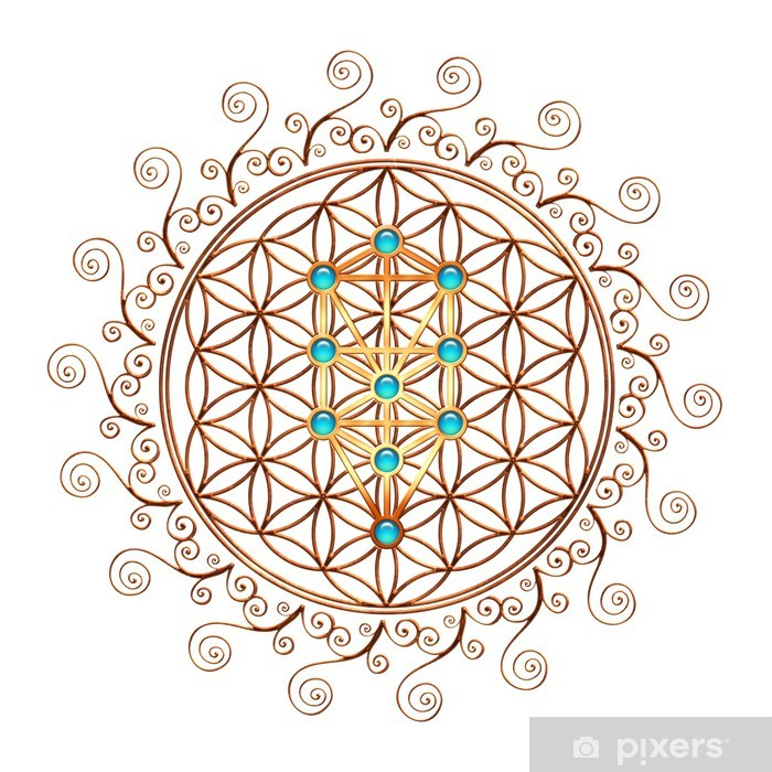 Pixerstick Sticker Flower of Life, Tree of Life, Kabbalah, Sephiroth - iStaging