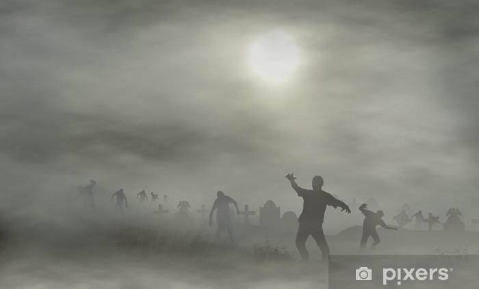 Papier peint lavable Cimetière avec des zombies - Thèmes