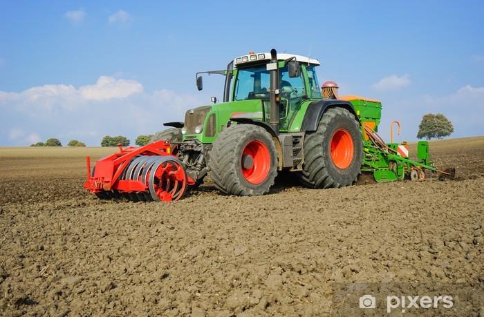 Pixerstick Aufkleber Getreideanbau, Herbstbestellung - Nahaufnahme - Themen