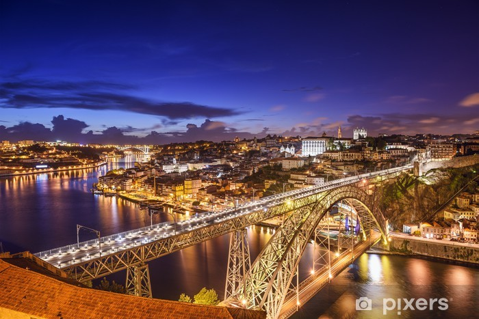 Vinyl Fotobehang Porto, Portugal bij Dom Luis Bridge - Europa