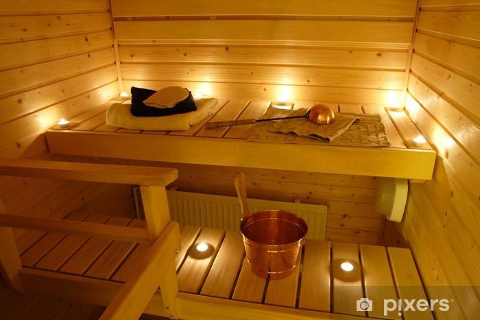 Fotomural Estándar Interior de una sauna finlandesa - Belleza y cuidado personal