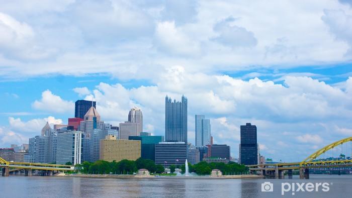 Vinyl Fotobehang Pittsburgh, Pennsylvania skyline - Stedelijk