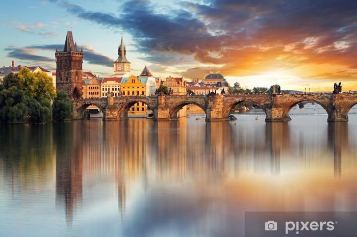 Prague - Charles bridge, Czech Republic Pixerstick Sticker - Prague