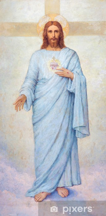 Pixerstick-klistremerke Padua - hjertet av Jesus Kristus maling i Dom - Duomo - Themes
