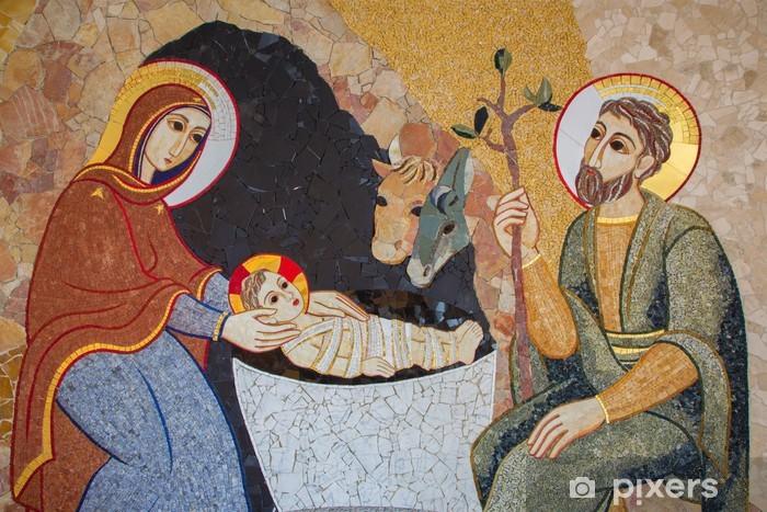 Pixerstick Sticker Bratislava - Het mozaïek van de Geboortekerk in st. Sebastian kathedraal - Thema's