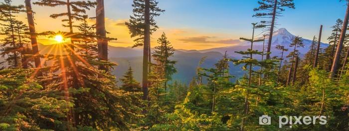 Pixerstick Sticker Mooie Vista van Mount Hood in Oregon, USA. - Thema's