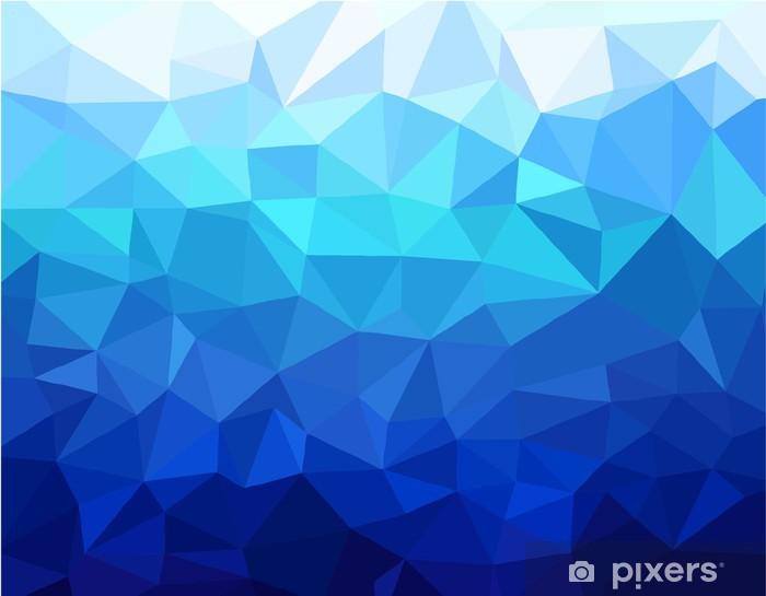Adesivo Geometrico Sfondo Blu Pixers Viviamo Per Il Cambiamento