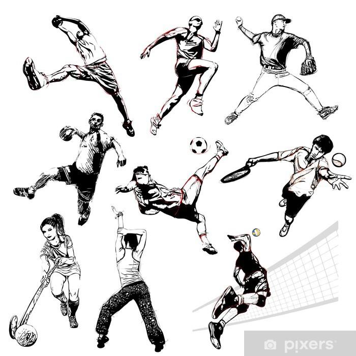 Sticker Pixerstick Sports vector illustration 2 - Sports collectifs