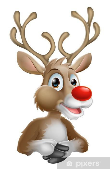 Christmas Cartoon Reindeer Lack Table Veneer