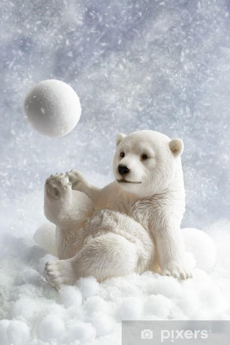 Naklejka Pixerstick Niedźwiedź polarny dekoracji - Tematy