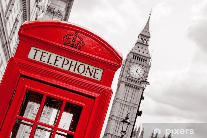 Phone booth. London, UK Vinyl Wall Mural - Themes