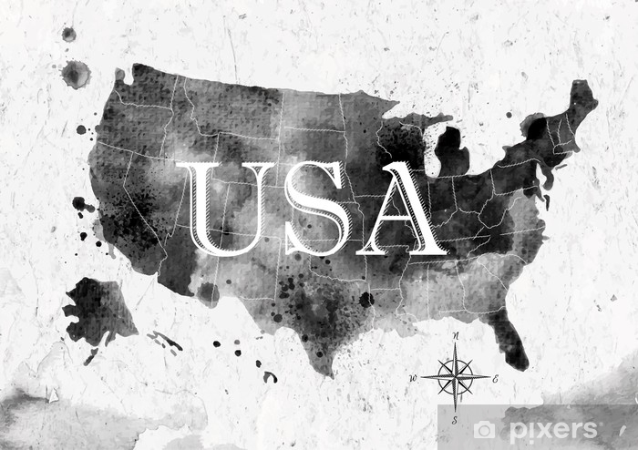 Koc pluszowy Tusz mapa stanów zjednoczonych - Podróże