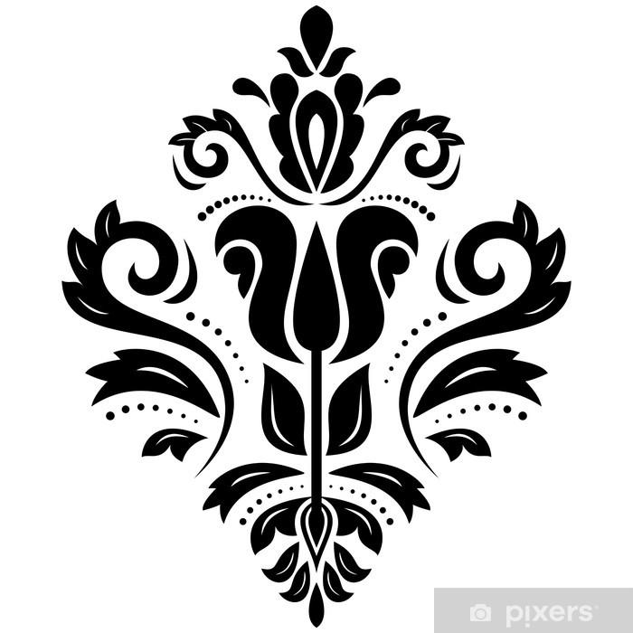 Paisley Oriental Decor Background Vector