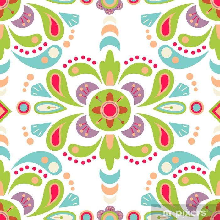 Poster Damassé Floral seamless pattern fond - Arrière plans