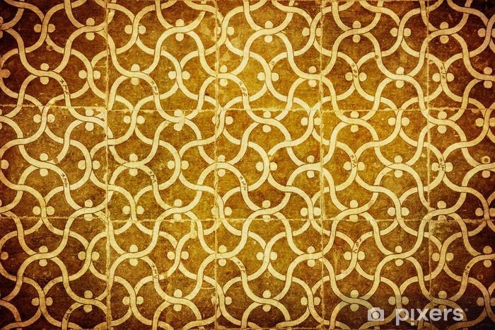 Sticker Pixerstick Grunge fond avec ornements orientaux. - Arrière plans