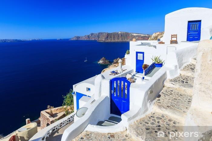 Naklejka Pixerstick Miejscowości Oia na Santorini, Grecja - Tematy