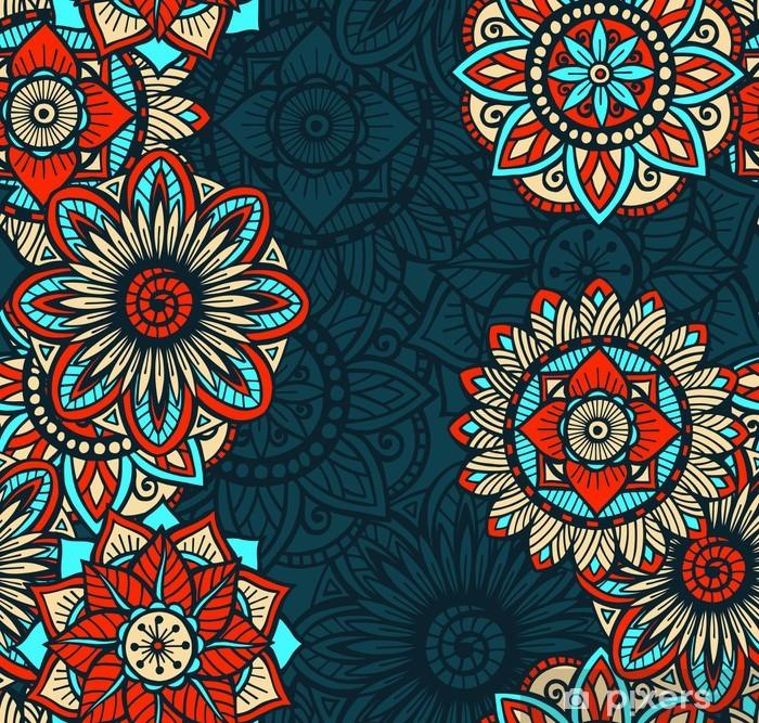 Seamless Mandalas Pattern Poster - Styles