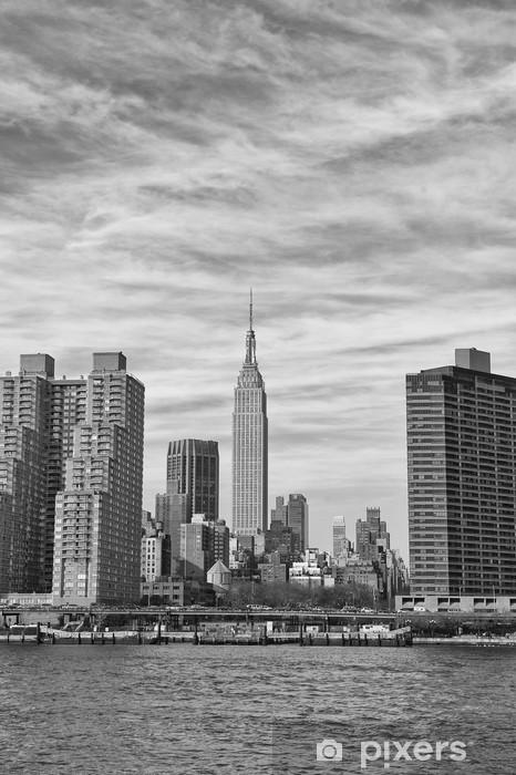 Papier peint vinyle New York Manhattan vue depuis l'East River - Thèmes