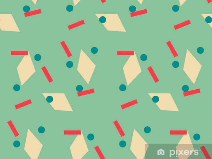 Papier Peint Geometrique Vert Jaune Orange Bleu Motif De Fond De