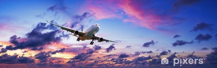 Vinyl-Fototapete Jet-Flugzeug in einer spektakulären Sonnenuntergang Himmel - Themen