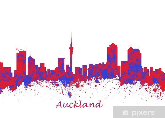 Nálepka Pixerstick Auckland Nový Zéland Skyline - Oceánie