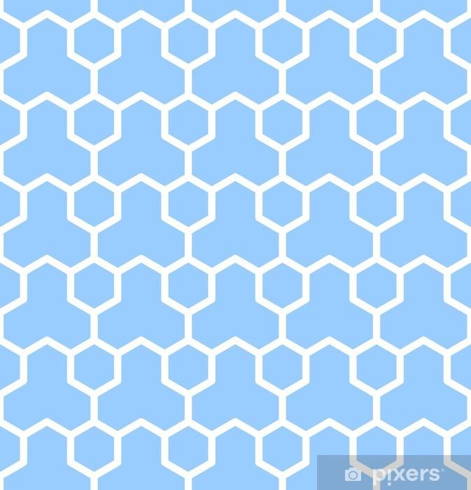 Seamless geometric texture. Blue hexagons pattern. Pixerstick Sticker - Backgrounds