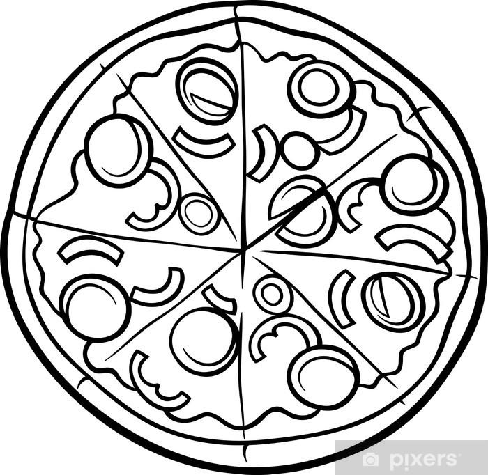 Vinilo Pixerstick Pizza italiana página para colorear de dibujos ...