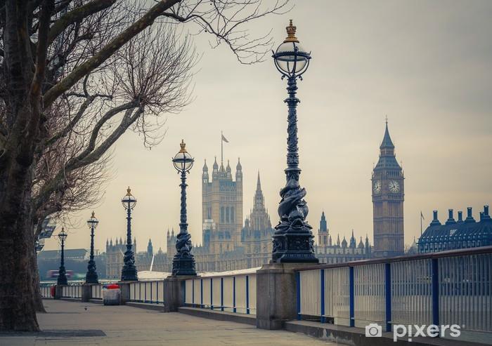 Papier peint vinyle Big Ben et les maisons du Parlement, Londres - Thèmes