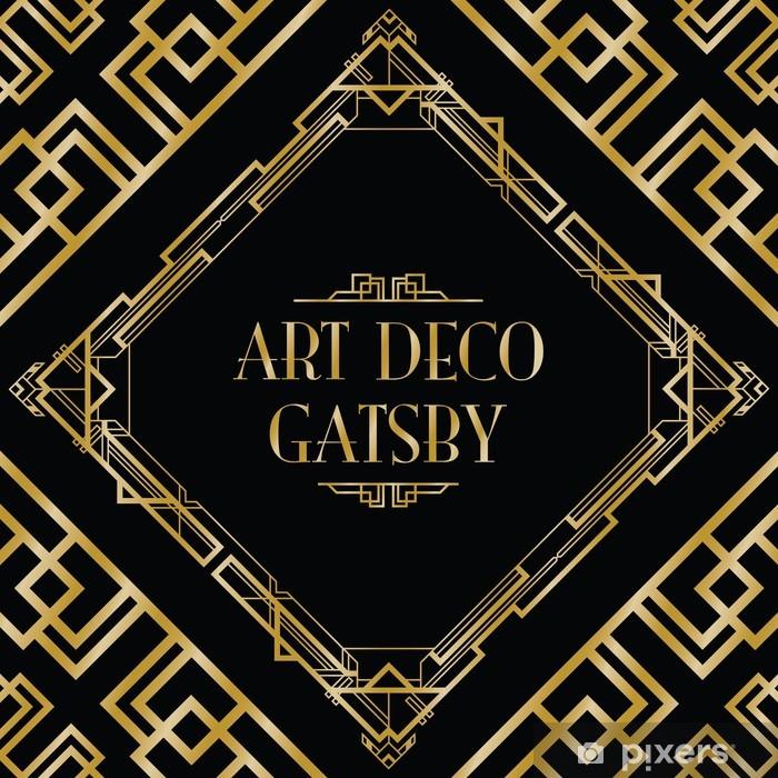 art deco gatsby style background Pixerstick Sticker - Backgrounds