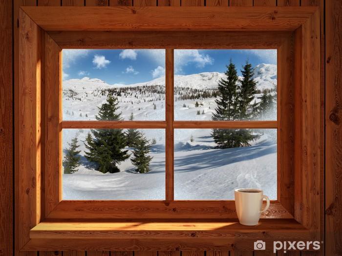 Winter landscape Pixerstick Sticker - Themes