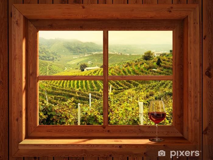 Fototapeta winylowa Winnice - iStaging