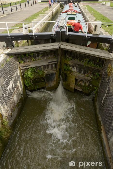 Naklejka Pixerstick Blokada na kanał wąski, Bradford on Avon - Europa