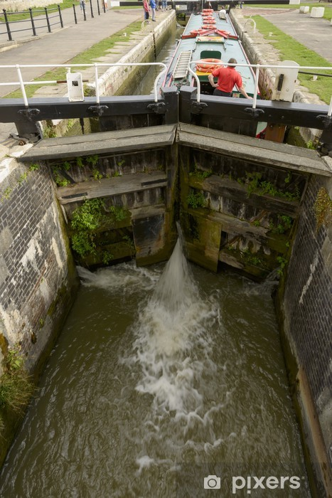 narrow lock on canal, Bradford on Avon Pixerstick Sticker - Europe