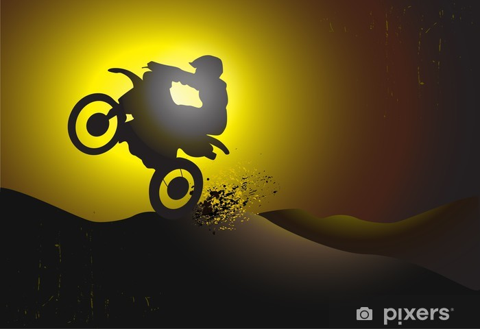 motocross background design with grunge element Vinyl Wall Mural - Extreme Sports