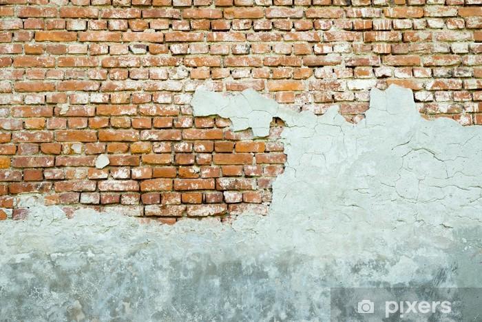 Naklejka Pixerstick Stary ceglany mur gipsowe - Tematy