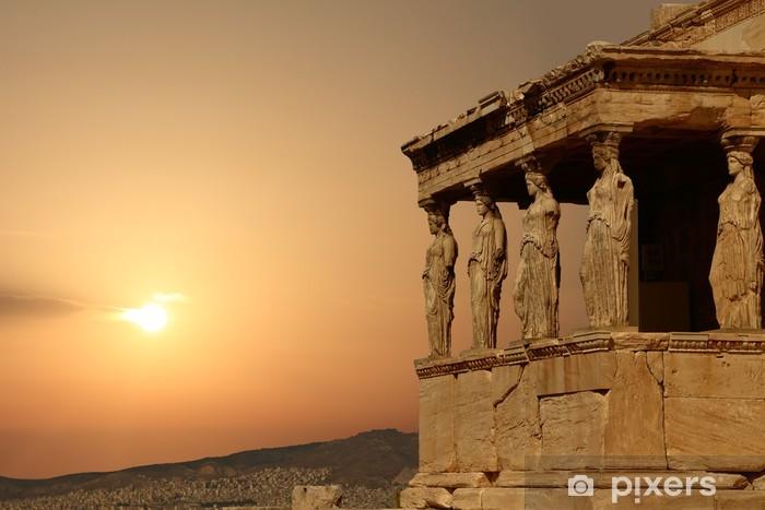 Fotomural Estándar Cariátides en la Acrópolis de Atenas al atardecer, Grecia - Estilos