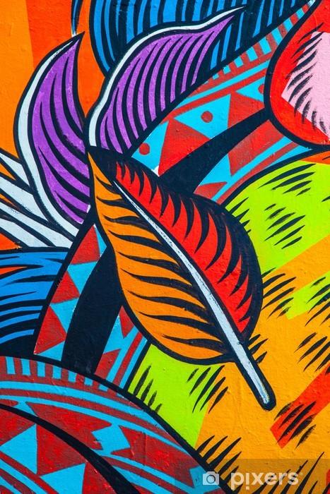 Street Art Abstract Vinyl Wall Mural - Graffiti