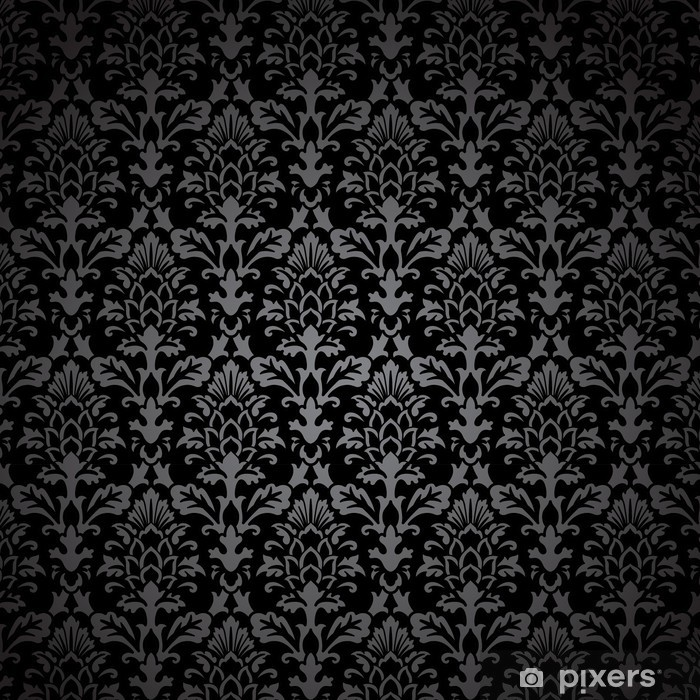 Nálepka Pixerstick Black Damask Pattern - Styly