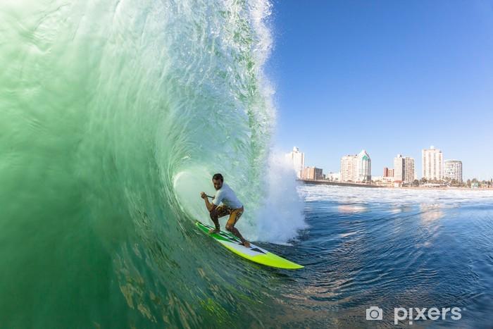 Sticker Pixerstick Surfer Surfer SUP Tube Vague - Sports individuels