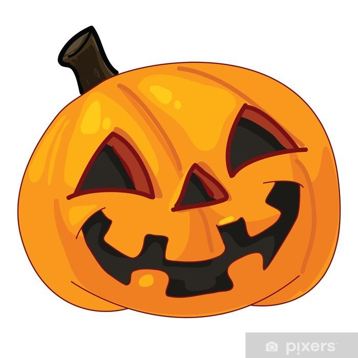 Carta da Parati Zucca di Halloween isolato su sfondo bianco • Pixers ... 1c058258a427