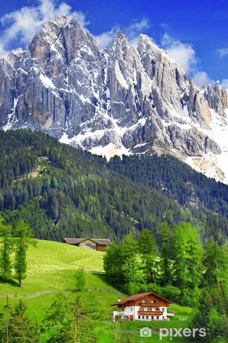 Pixerstick Sticker Adembenemende natuur van de Dolomieten. Italiaanse Alpen - Europa