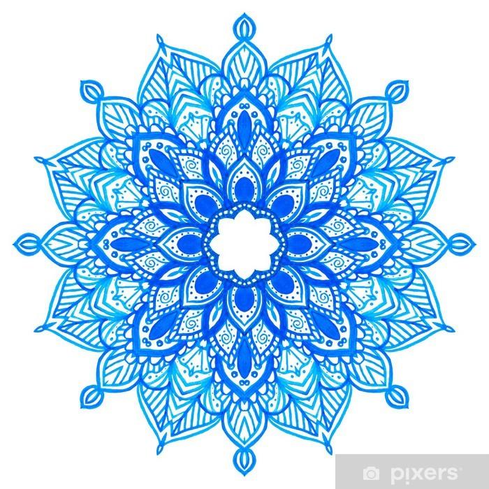 Naklejka Pixerstick Akwarele ręcznie rysowane mandalę. - Tematy